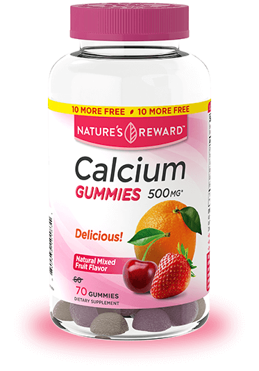 Calcium Gummies<br>500 mg plus D3 800 IU