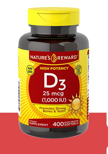 Vitamin D3 25 mcg <br>(1,000 IU)