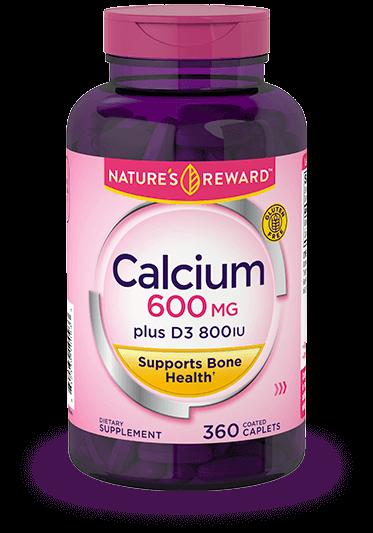 Calcium 600 mg plus D3 800 IU