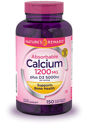 Calcium 1200 mg plus D3 5000 IU