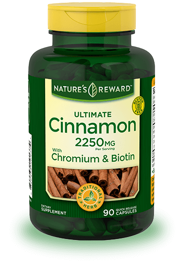 Cinnamon 2250 mg plus Chromium and Biotin