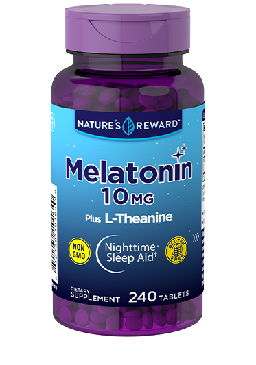 Melatonin 10 mg plus L-Theanine