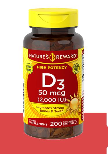 Vitamin D3 50 mcg <br>(2,000 IU)