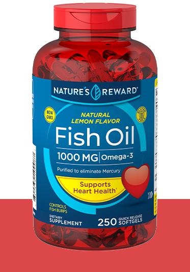 Lemon Flavor Fish Oil 1000 mg