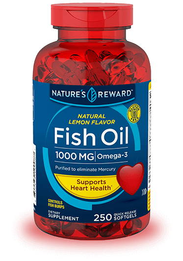 Lemon Flavor Fish Oil 1000 mg