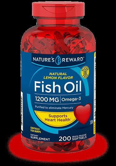 Lemon Flavor Fish Oil 1200 mg