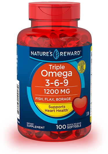 Triple Omega 3 6 9 1200 Mg Nature S Reward
