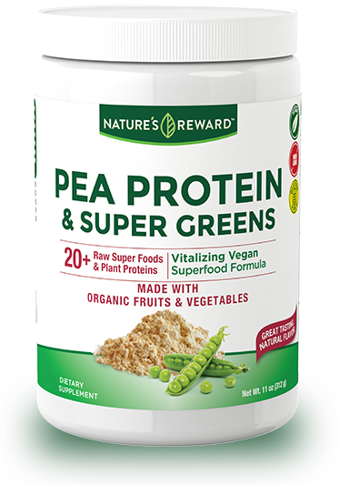 Pea Protein and Super Greens Powder