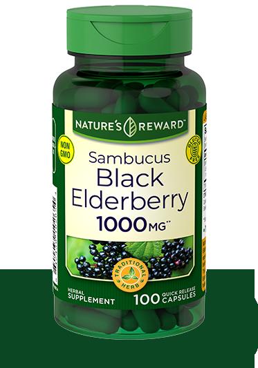 Sambucus Black Elderberry 1000 mg**