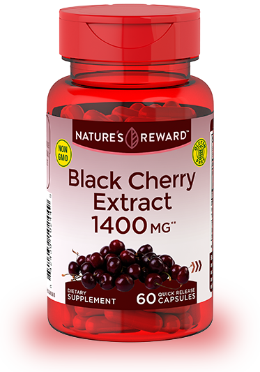 Black Cherry Extract <br>1400 mg**